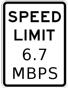 Speed Limit 6.7 MBPS